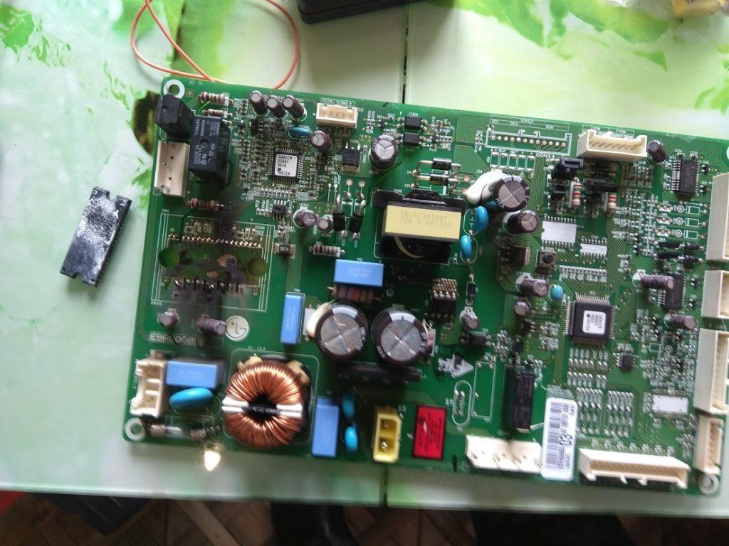 Обманка линейного компрессора холодильника LG ремонт холодильников fixfrrezer.by