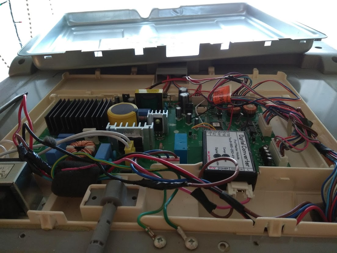 Пределка платы управления с линейного на обычный компрессор холодильника LG